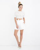 BALTHAZAR BERMUDA SHORTS - WHITE