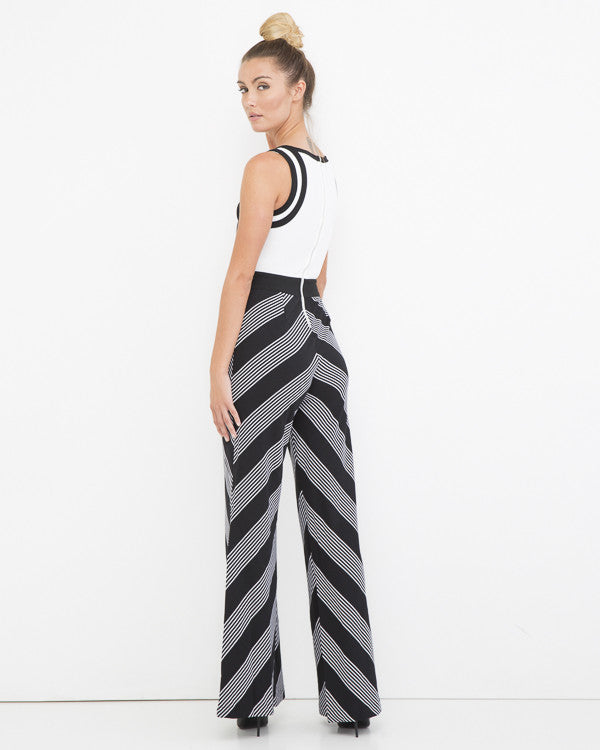 THE POWERTRIP Geometric Retro Jumpsuit at FLYJANE