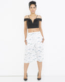 FISH OUT OF WATER Culotte Shorts in White at FLYJANE | Culottes | Bermuda Shorts | Fish Out of Water Print