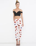 GOOD KISSER Pencil Trouser Pants with Abstract Painted Lips at FLYJANE | Pencil Trousers | Pants with Lips