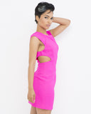 ADRIENNE Cutout Dress in Hot Pink at FLYJANE | Cute Cutout Dresses for Summer | Young Contemporary Fashion under $100 at FLYJANE | Little Pink Dress