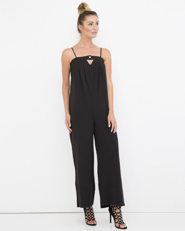 CLEAN GETAWAY Wide Leg Jumpsuit at FLYJANE | Black Jumpsuit | Wide Leg Jumpsuit