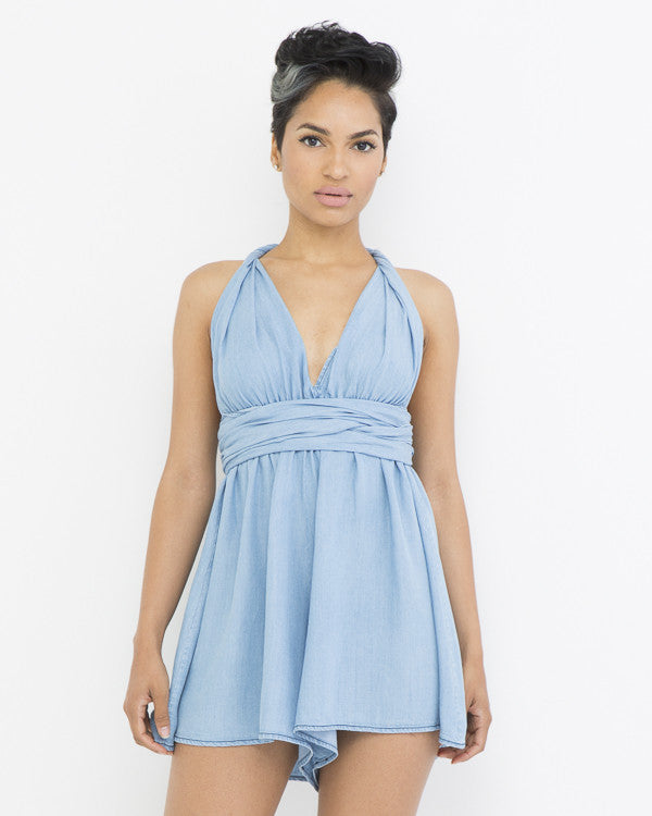 GLORY DAYS Denim Chambray Romper at FLYJANE | Flowy Chambray Romper at FLYJANE