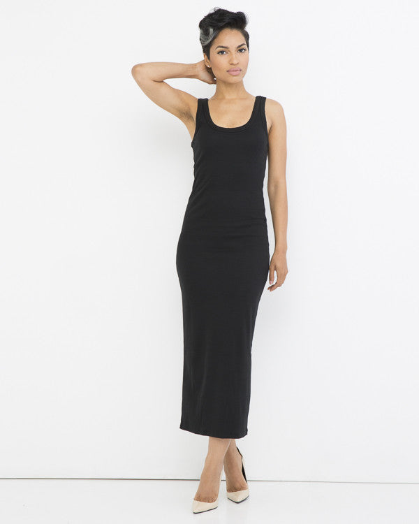SIMPLE YET EFFECTIVE TANK DRESS - BLACK