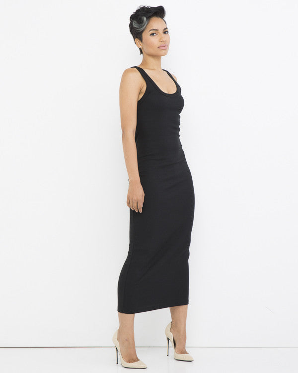 SIMPLE YET EFFECTIVE Maxi Tank Dress in Black at FLYJANE | Black Bodycon Dresses | Maxi Dresses | Tank Dresses