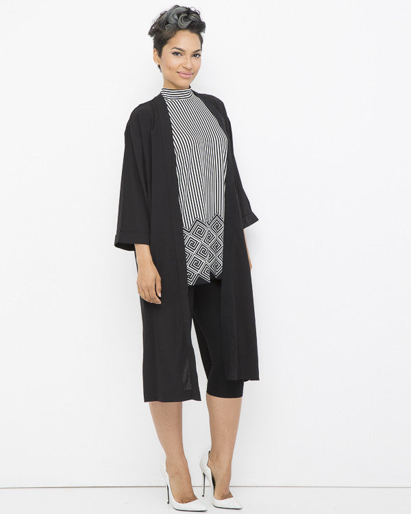 ON THE FLY Summer Envelope Jacket in Black at FLYJANE | Black Jacket with Slit up the Back at FLYJANE | Young Contemporary Clothing under $100 at FLYJANE