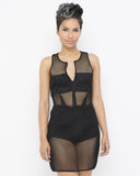 TOTAL MESH Bodycon Dress in Black at FLYJANE | Mesh Dress | Summer Dresses | Little Black Dress | Swim Dress