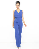 CARLA Wide Leg Jumpsuit in Blue at FLYJANE | Blue Jumpsuit | Evenual Contemporary Dressy Wide Leg Jumpsuit | Cute Blue Jumpsuit for Dress