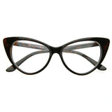 TWIGGY CAT EYE CLEAR RETRO FRAMES in Tortoise at FLYJANE