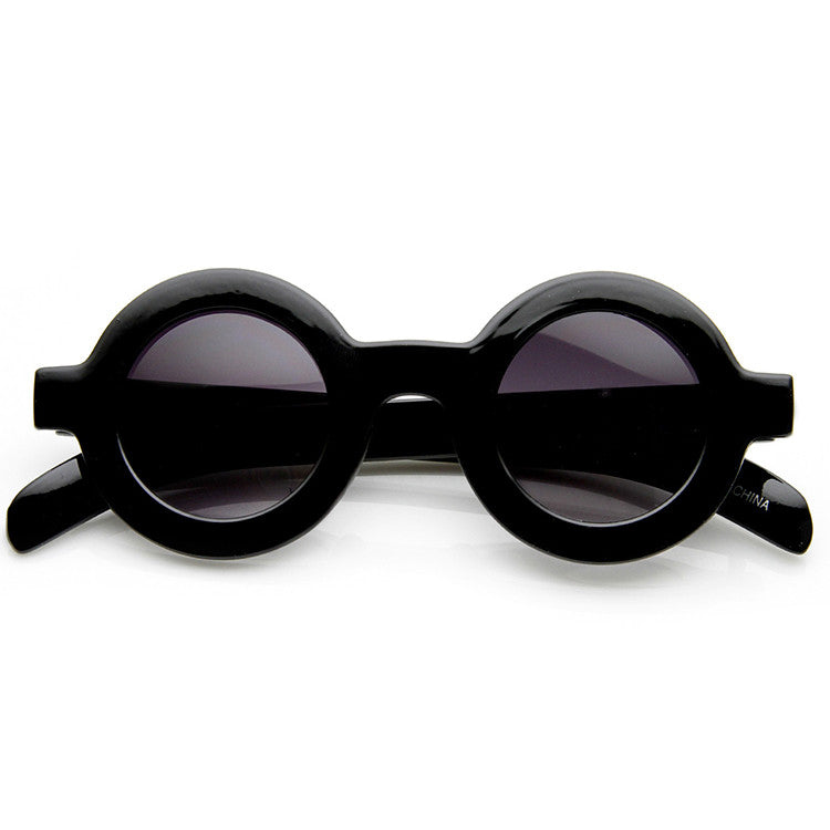 BABY GIRL Retro Circle Sunglasses in Black at FLYJANE | Circle Frames | 60's inspired sunglasses | Round Frames | Retro Sunnies