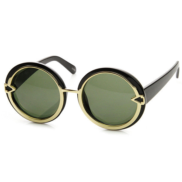 MOD MARILYN Round Frame Sunglasses at FLYJANE