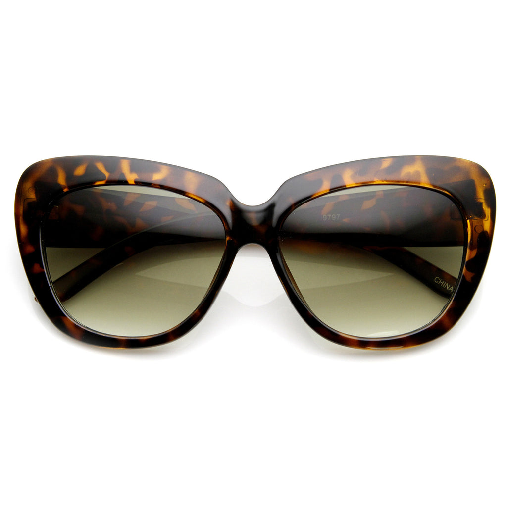 SLICK KITTY CAT EYE SUNGLASSES IN TORTOISE AT FLYJANE