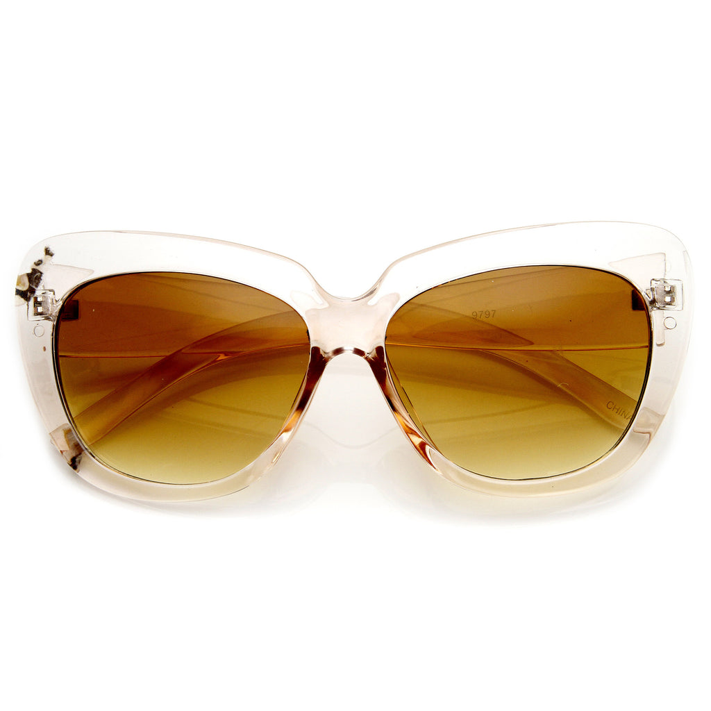 SLICK KITTY CAT EYE SUNGLASSES IN PINK AMBER AT FLYJANE