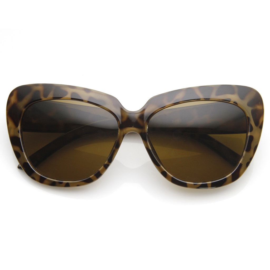 SLICK KITTY CAT EYE SUNGLASSES IN HAVANA AT FLYJANE