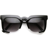 HYPE OVERLOAD Sunglasses in Matte Black at FLYJANE | Half Frame Sunglasses | Contemporary Sunglasses at FLYJANE | Matte Black Sunglasses