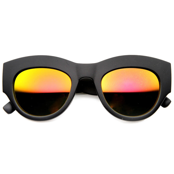 AMBER LIGHTS Matte Revo Mirror Sunglasses | FLYJANE | Thick Brow Sunglasses | Matte Sunglasses | Revo Mirror Sunglasses under $20 at FLYJANE | Cute Shades