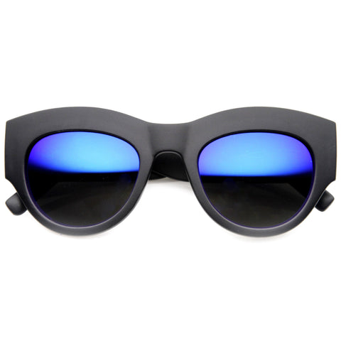 BLUE THUNDER MATTE REVO MIRROR SUNGLASSES