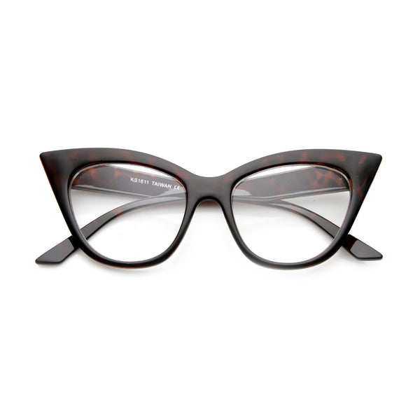 CUTE AND SMARTY CAT EYE FRAMES - TORTOISE