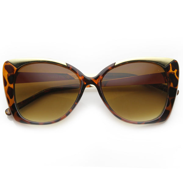 THE LANEZ Metal Frame Tortoise Oversized Cat Eye Sunglasses at FLYJANE | Tortoise Cat Eye Sunglasses | The Joanne Tortoise Frames | Fashion Sunglasses under $25