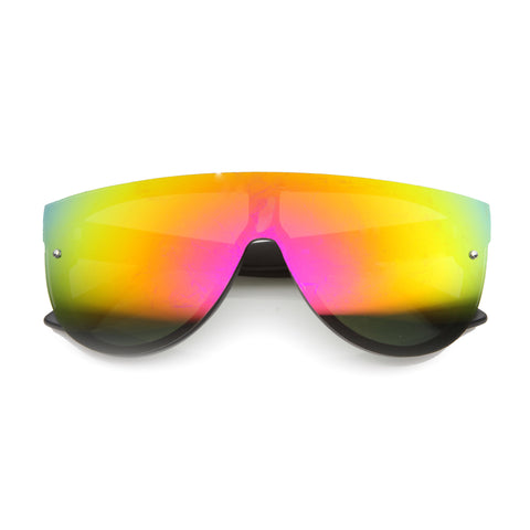 BRIGHT ME Iridescent Sunglasses at FLYJANE | Contemporary Fashion Sunglasses under $25 at FLYJANE | Revo Retro Mirror Sunglasses