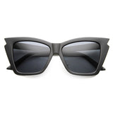 JAGGED EDGE Cat Eye Sunglasses at FLYJANE | Matte Black Cat Eye Sunglasses | Matte Black Sunnies | Cute Contemporary Sunglasses under $25 at FLYJANE