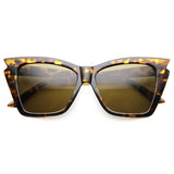 Jagged Edge Cat Eye Sunglasses in Tortoise | Fashion Sunglasses under $20 | 9833 Sunglasses | Cat Eye Sunglasses | Sunnies