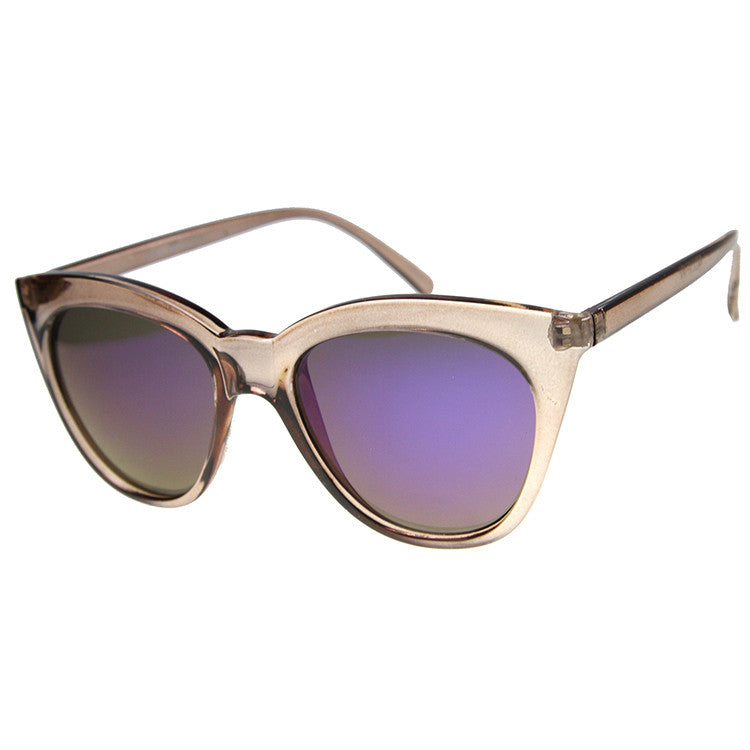 GIRL TALK Revo Mirror Cat Eye Sunglasses at FLYJANE | Cute Revo Sunnies under $20 | Cat Eye Retro Mirror Lens Sunglasses at FLYJANE | Cute Sunnies Shades