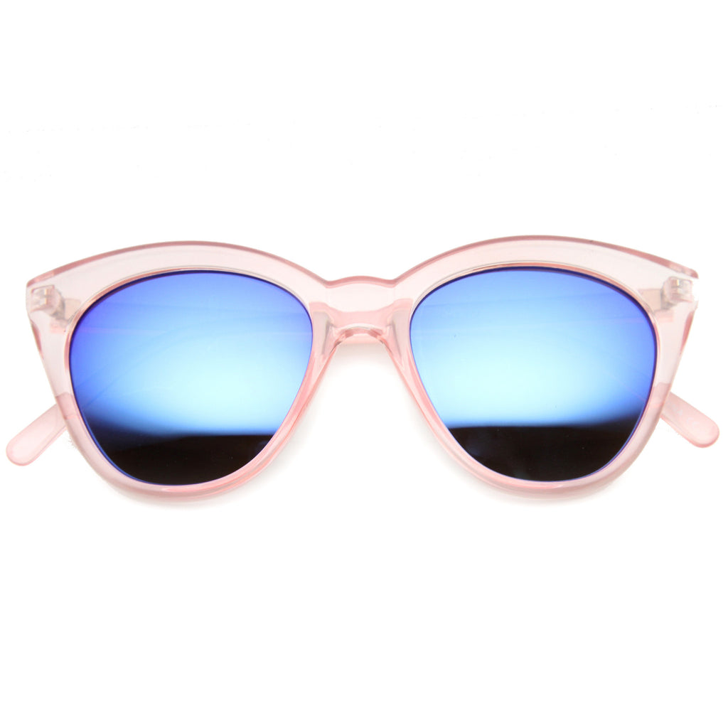 WAY CUTE Revo Mirror Cat Eye Sunglasses at FLYJANE | Cute Revo Sunnies under $20 | Cat Eye Retro Mirror Lens Sunglasses at FLYJANE | Cute Sunnies Shades