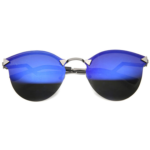 AFTER GLOW Iridescent Cat Eye Sunglasses at FLYJANE | Revo Sunglasses | Reflective Sunglasses | Contemporary Frames under $25 at FLYJANE
