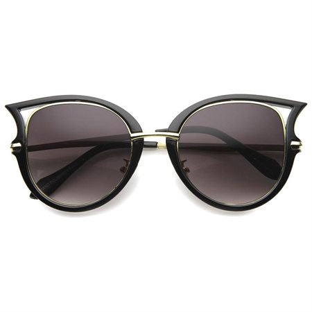 FREEBIRD Retro Sunglasses in Black and Gold at FLYJANE | Retro Cat Eye Sunglasses in Black and Gold under $20 at FLYJANE | Dope Sunglasses under $20 at FLYJANE