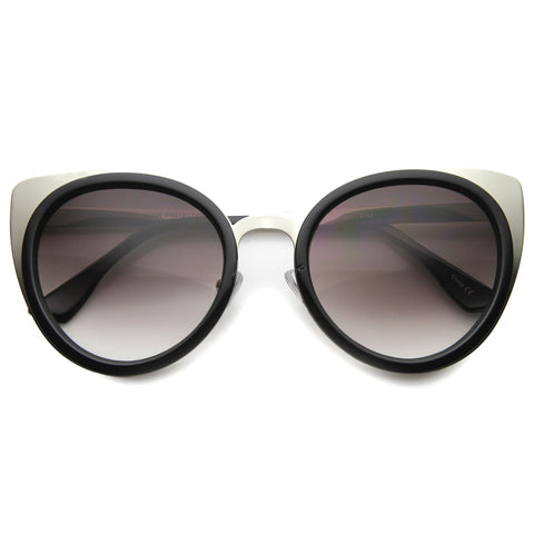 ASON Cat Eye Sunglasses in Black Silver at FLYJANE | Cat Eye Frames | Black and Silver Sunglasses | Fashion Sunglasses | Gold Sunglasses | Sunnies under $25