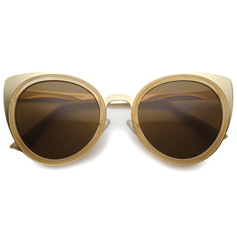 AMINA Cat Eye Sunglasses in Tortoise Amber at FLYJANE | Cat Eye Frames | Amber Sunglasses | Fashion Sunglasses | Gold Sunglasses | Sunnies under $25