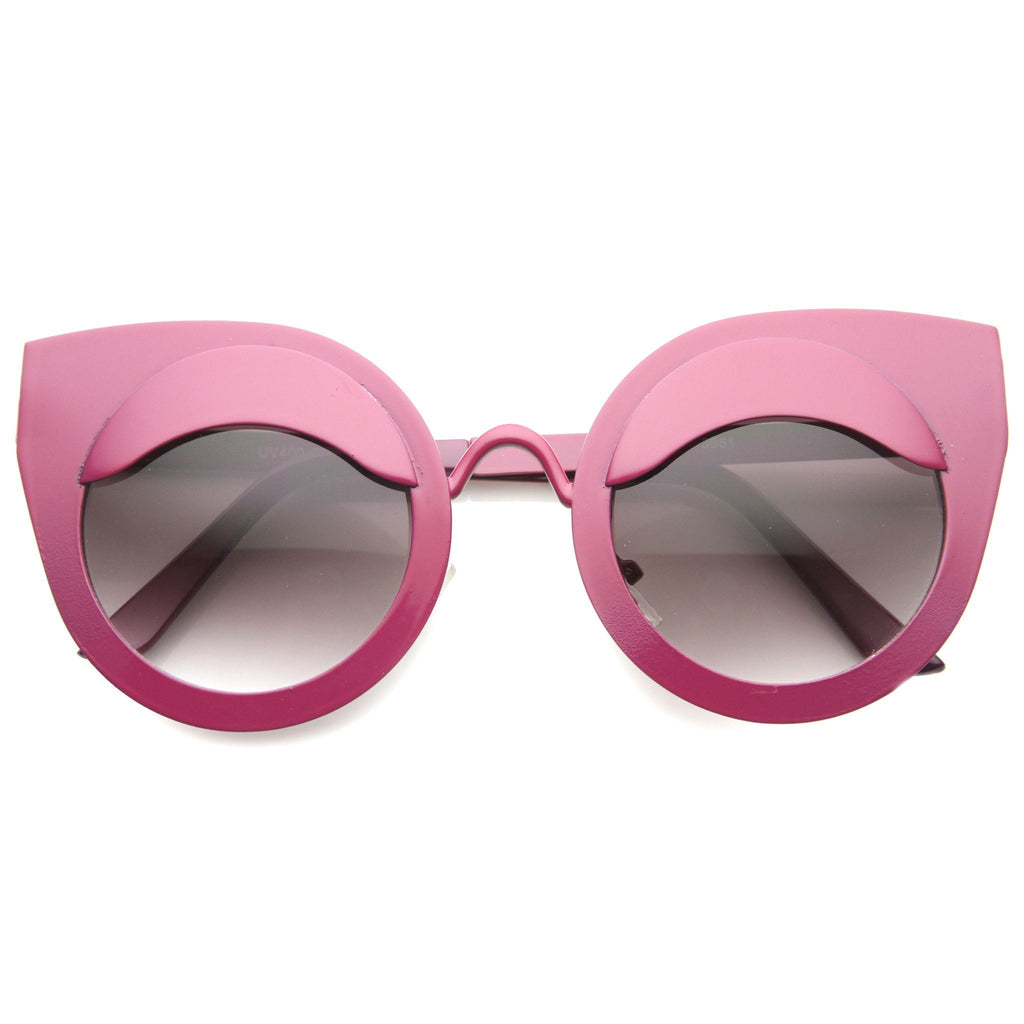 EYE LIDS POPPIN Cat Eye Sunglasses in Hot Pink at FLYJANE | Hot Pink Cat Eye Sunnies | Sunglasses under $20 | Cute Contemporary Shades Sunglasses Sunnies from FLYJANE