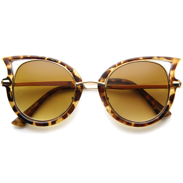 ALAIA Retro Cat Eye Sunglasses in Tortoise Amber at FLYJANE | Retro Cat Eye Sunglasses in Tortoise under $20 at FLYJANE | Dope Sunglasses under $20 at FLYJANE
