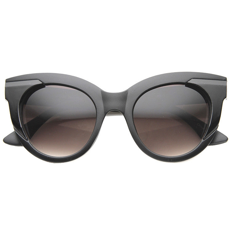 fe1ee40daf65c ... CLEAR AS DAY Black and White Cat Eye Sunglasses at FLYJANE