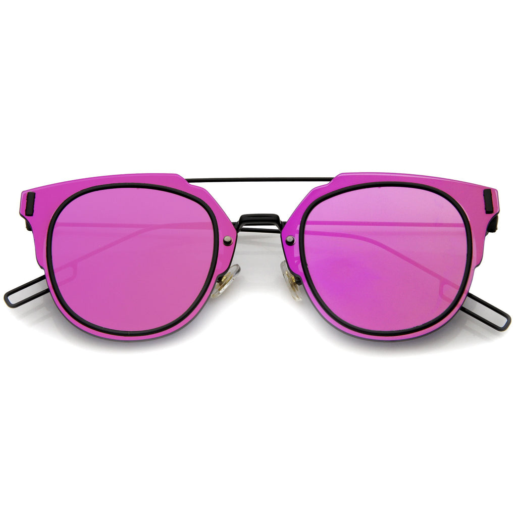 FIYAH WIRE Flat Frame Mirror Sunglasses at FLYJANE | Flat Frame Sunglasses | Mirrored Lens Sunglasses | Revo Sunnies | Revo Sunglasses | Dope Shades under $25