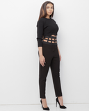 BANDO Black Dress Pant with Elastic Band at Waist at FLYJANE | Cute Dress Pants at FLYJANE | How Cute Are These Pants | I love Contemporary Fashion under $100