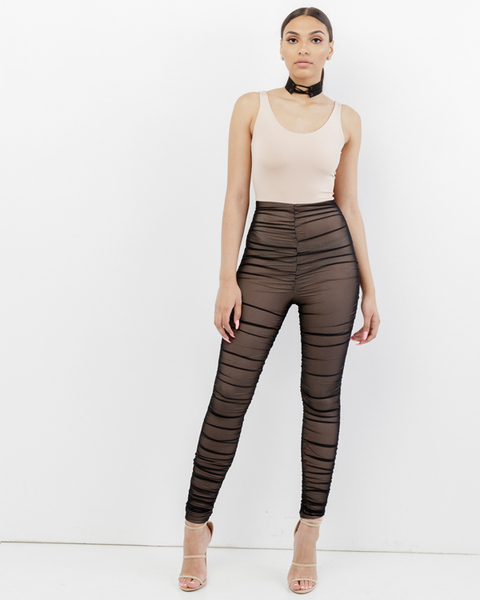 BARE ESSENTIALS MESH LEGGINGS