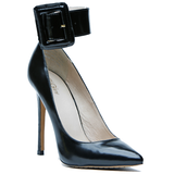 ZigiNY PAULINE Leather Pump in Black at FLYJANE