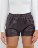 SNAKE CHARMER FAUX LEATHER SHORTS