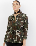 FULL METAL Studded Camouflage Army Jacket at FLYJANE | Military Jacket | Camo Jacket | Canvas Army Jacket | Follow us on Instagram at @FlyJane | Khaki Jacket