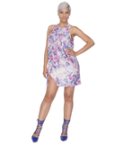 LILAC SUMMER Floral Overlay Dress at FLYJANE