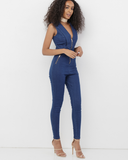 CODY STRETCH DENIM JUMPSUIT