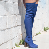 ST GERMAIN THIGH HIGH DENIM BOOT