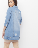PARKER LONG DENIM JACKET