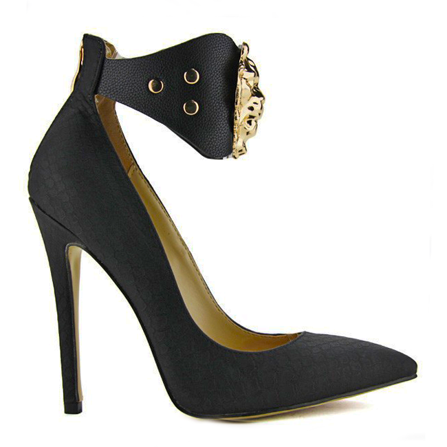 QUEEN OF THE THRONE Snake Pump in Black at FLYJANE
