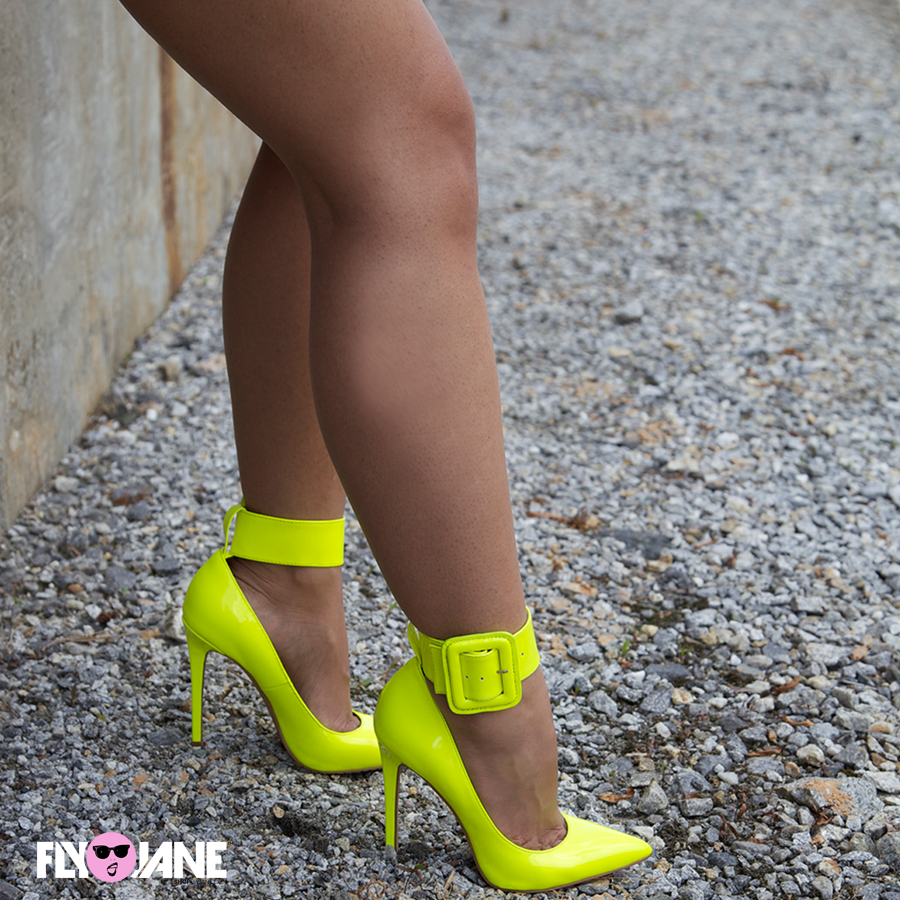 ZigiNY PAULINE Pump in Citron Patent Leather at FLYJANE
