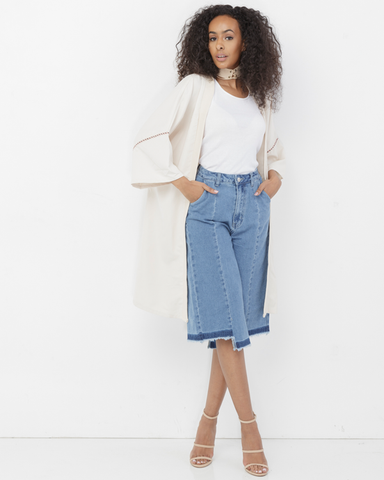 MAD CROPS DENIM CULOTTES