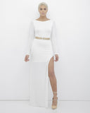 APHRODITE SLIT DRESS - IVORY