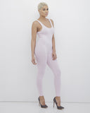 KNIT FIT Jersey Bodysuit Catsuit in Pink at FLYJANE | Pink Bodysuit | pink Leggings | Pink Catsuit | Jersey One Piece Leggings Catsuit | Fit Chicks One Piece